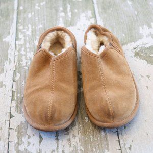 UGG ROMERO Scuff Pull on Slippers Shoes 4 34 tan
